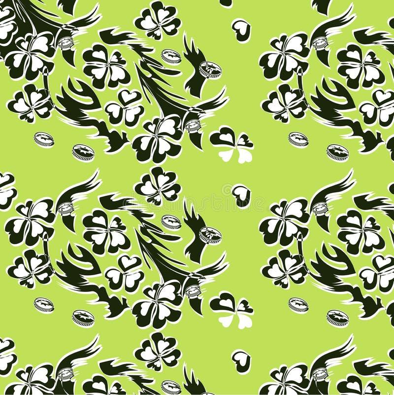 三叶草的传染媒介例证以绿色 图库摄影
