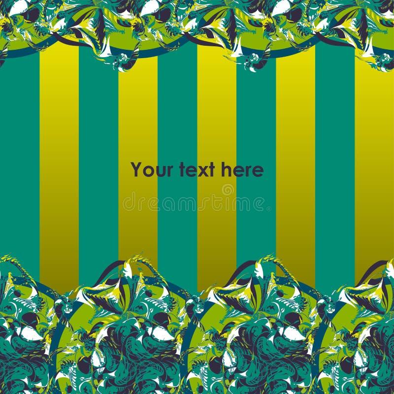 三叶草的装饰详细的线性装饰品 皇族释放例证