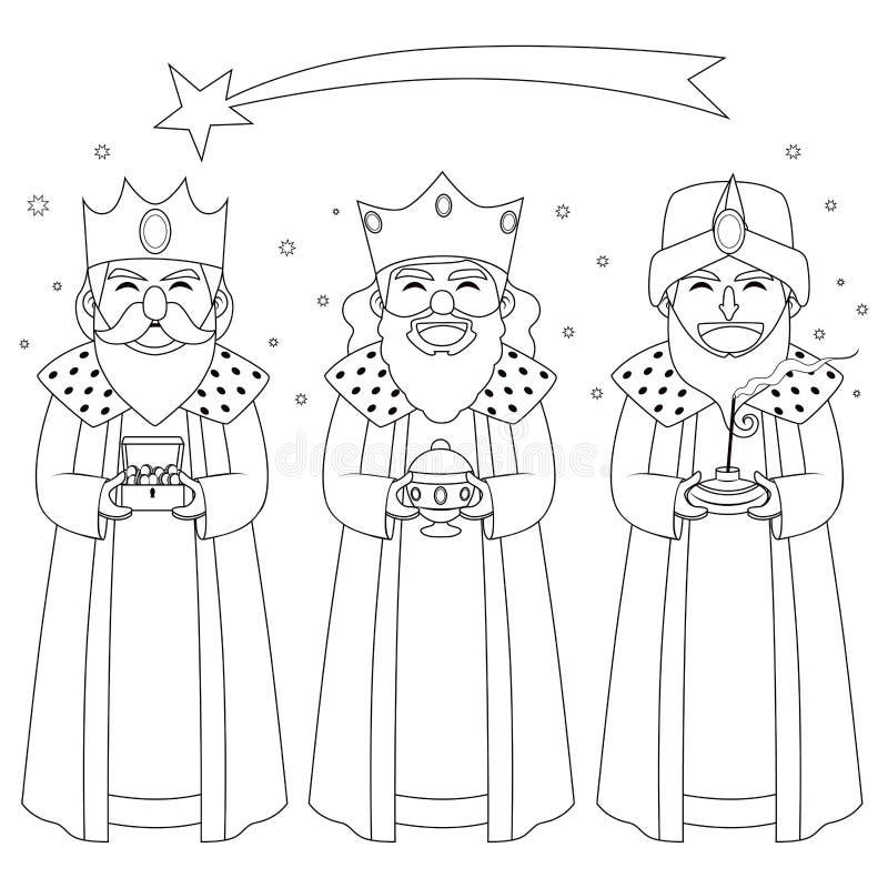 三国王种族分界线艺术 向量例证