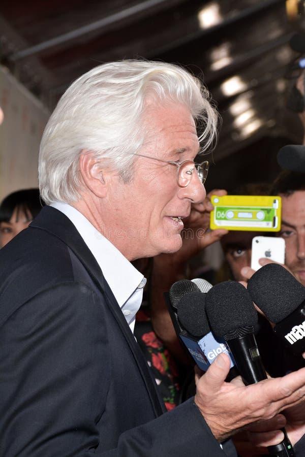 `三在多伦多国际电影节的Christs `首放的李察吉尔  图库摄影