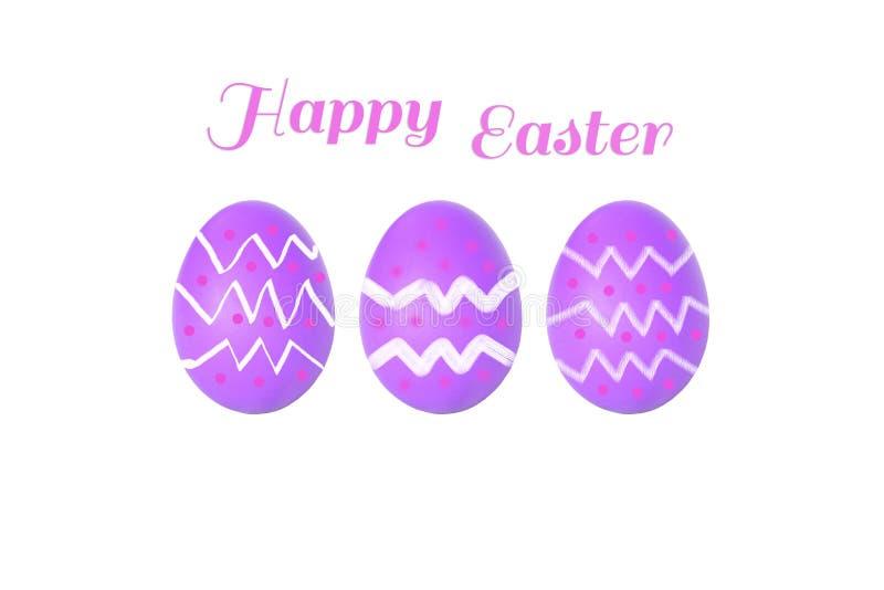 三在白色织品背景的棕色鸡鸡蛋与拷贝温泉 库存照片