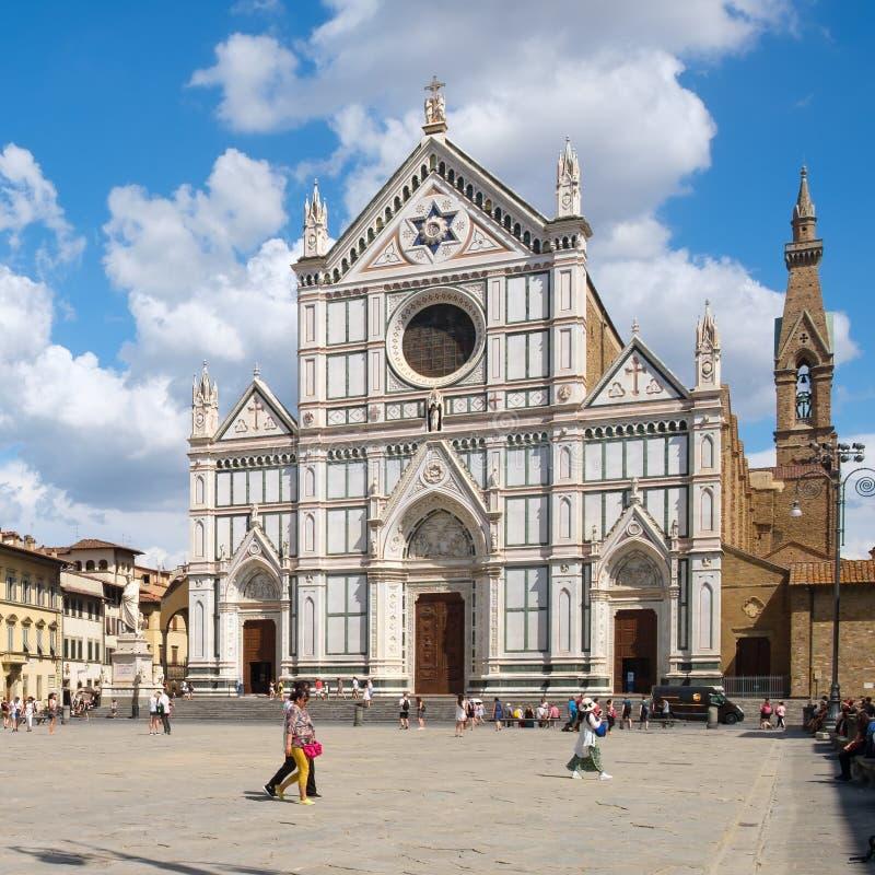 三塔Croce大教堂在佛罗伦萨 库存照片