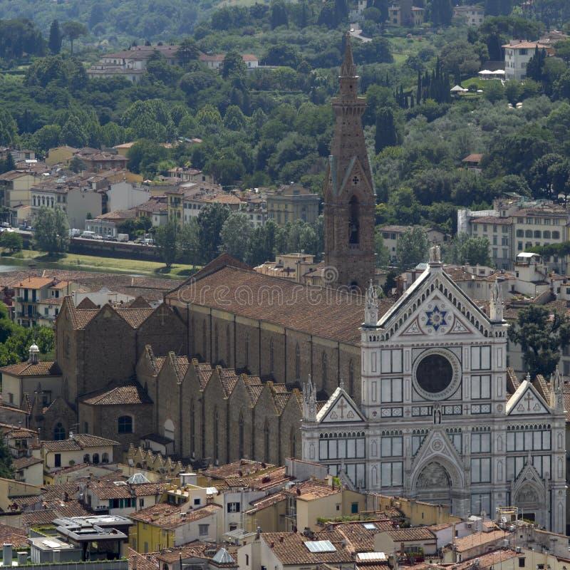 三塔Croce教会,佛罗伦萨 免版税库存照片