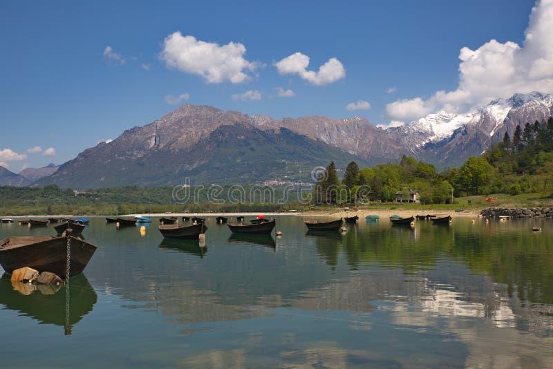 三塔Croce湖 库存图片