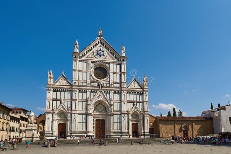 三塔Croce,佛罗伦萨,托斯卡纳,意大利大教堂  免版税库存图片