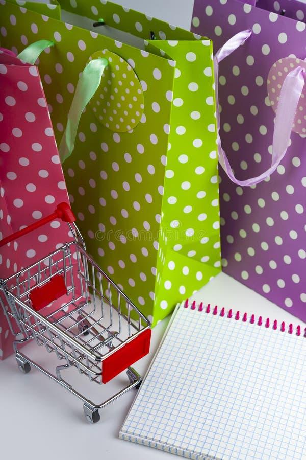 三多彩多姿的购物带来 免版税库存照片