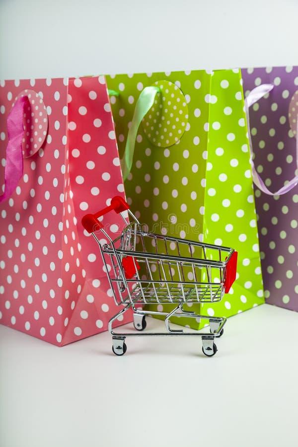 三多彩多姿的购物带来 库存照片