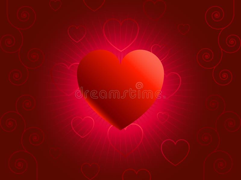 三天的例证圣场面valentin向量 向量例证