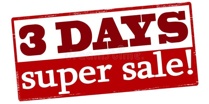 三天超级销售 皇族释放例证