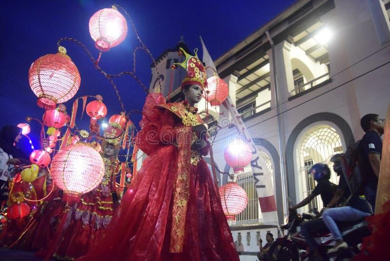 三宝垄夜狂欢节2017年 库存图片