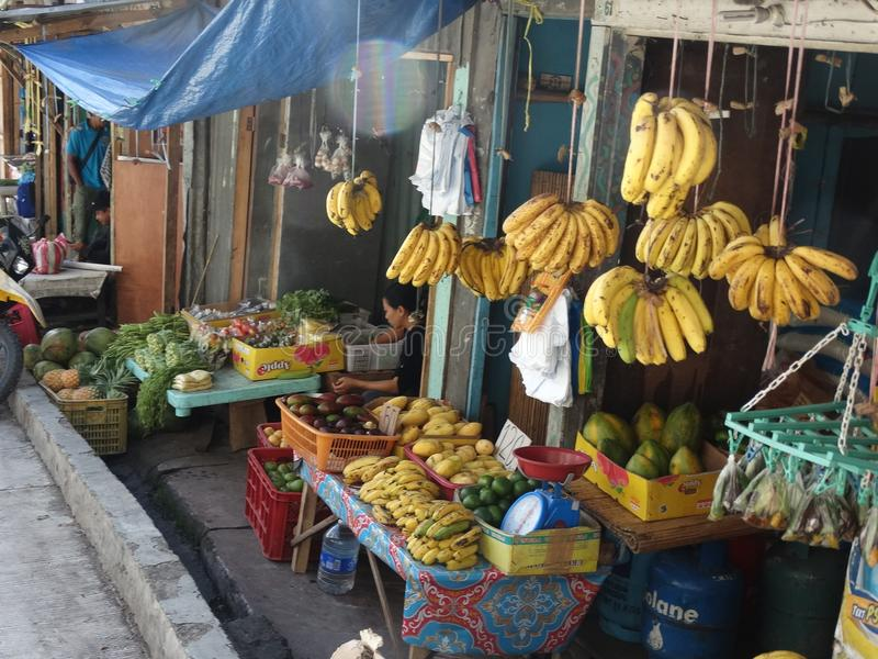 三宝颜街道场面,棉兰老岛,菲律宾 免版税库存照片