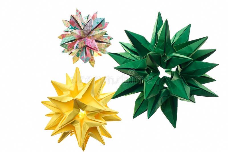 三尖刻的origami装饰 免版税图库摄影
