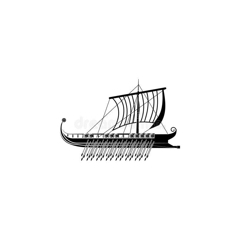 三层桨座之战船象 船上厨房象标志 向量例证