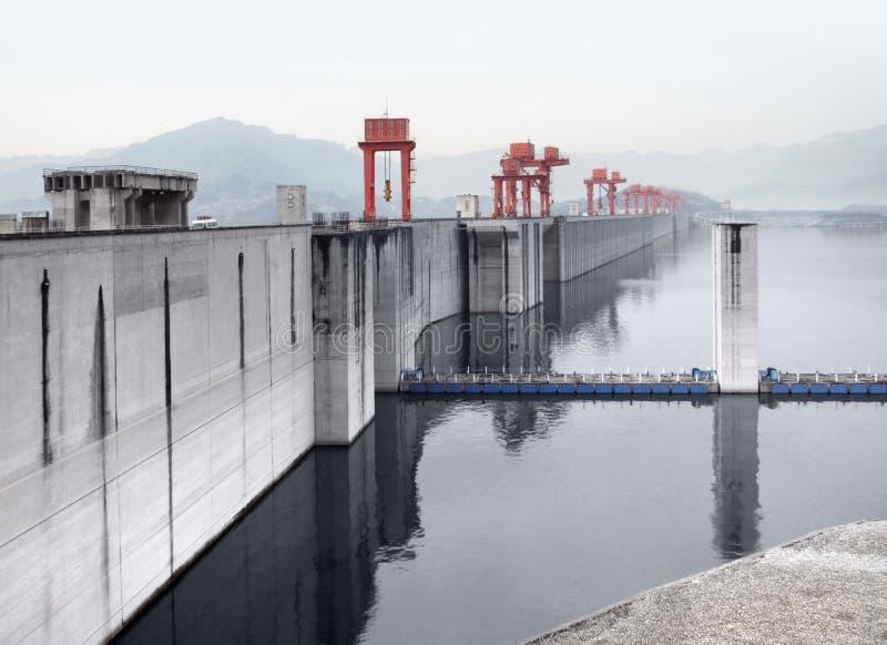 三峡大坝在中国 图库摄影