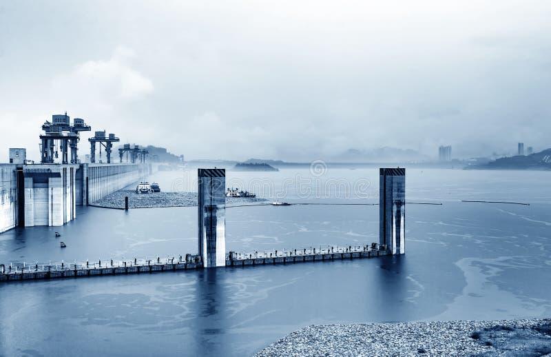 三峡大坝,中国 库存图片