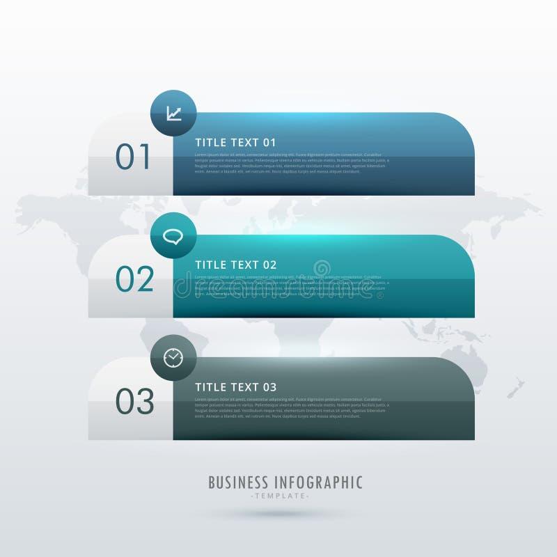 三您的企业介绍的步infographic模板 皇族释放例证