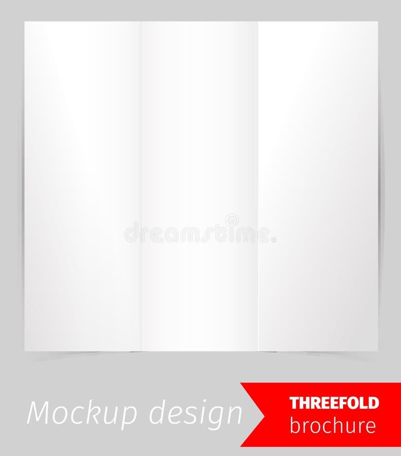 三折叠小册子大模型设计 向量例证