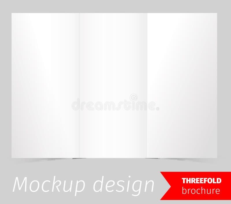 三折叠小册子大模型设计 库存例证