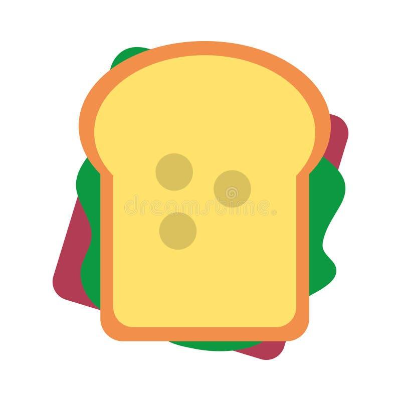 三明治健康食品topview标志舱内甲板 皇族释放例证
