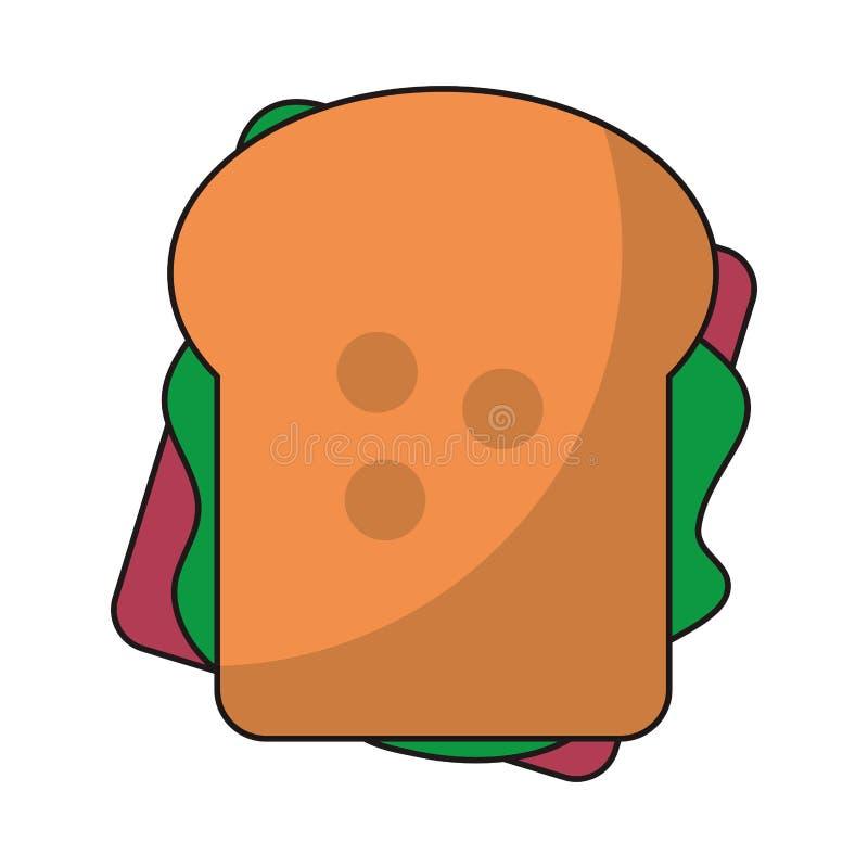 三明治健康食品topview标志 向量例证