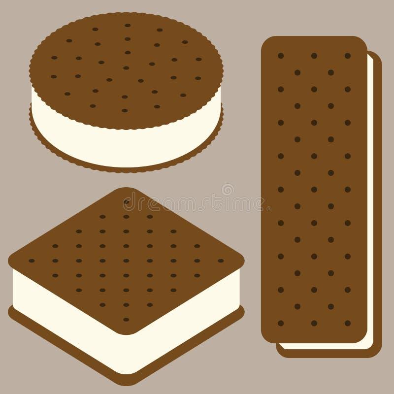 三明治冰淇凌例证汇集 库存例证