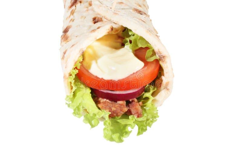 三明治换行 库存照片