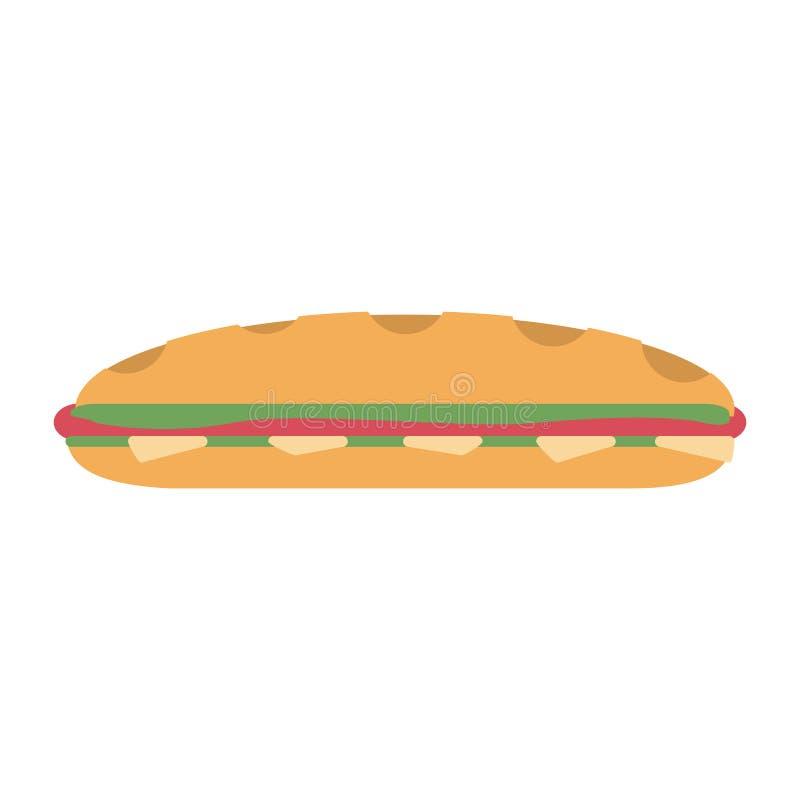 三明治新鲜食品 库存例证