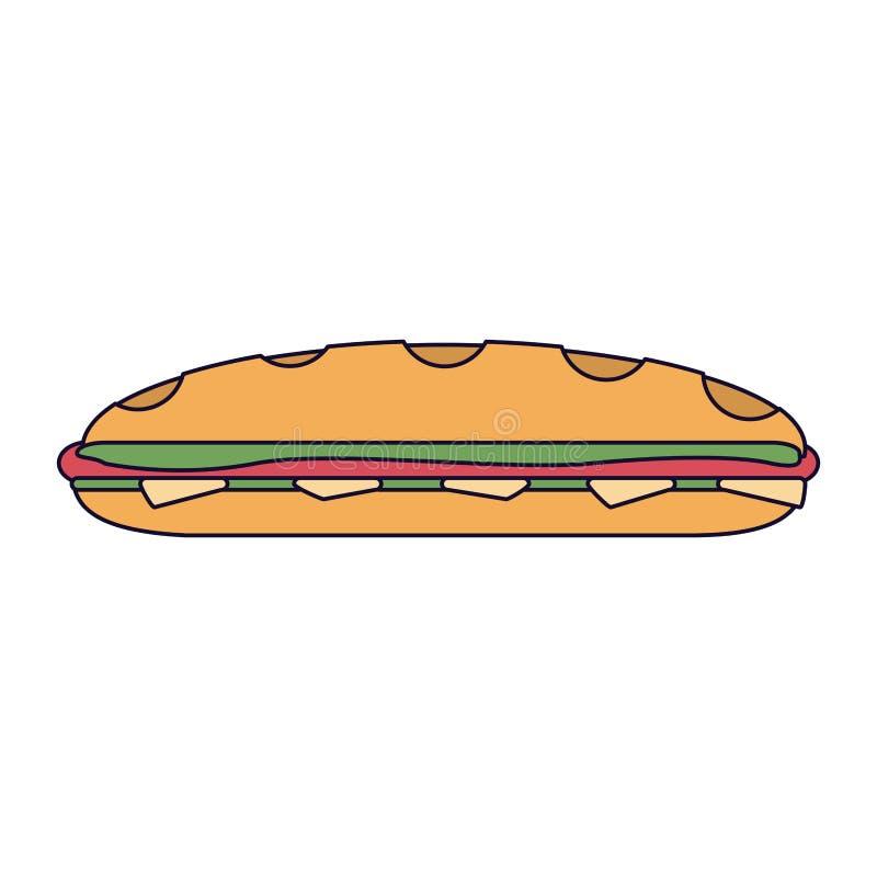 三明治新鲜食品 皇族释放例证