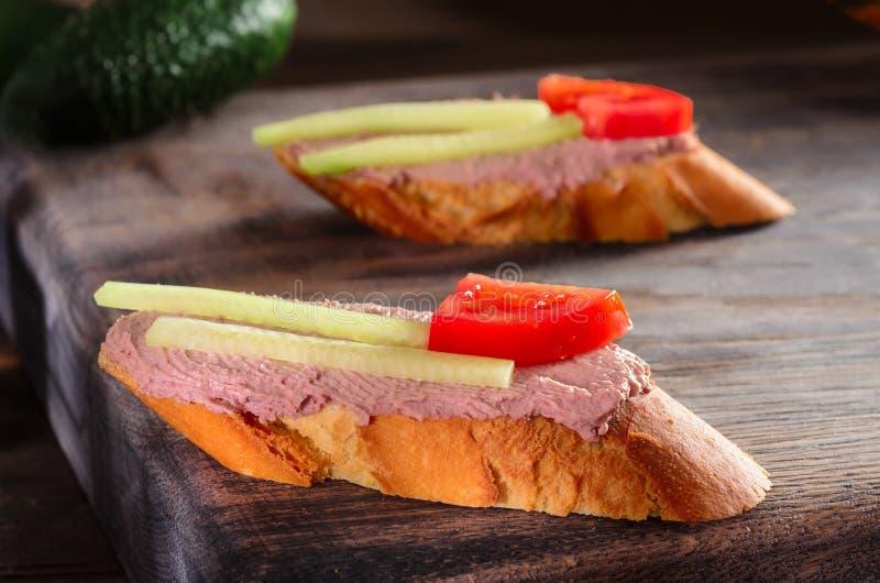 三明治用头脑 图库摄影