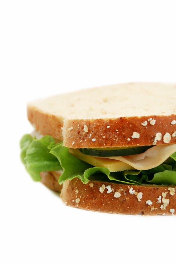 三明治的端 免版税库存图片