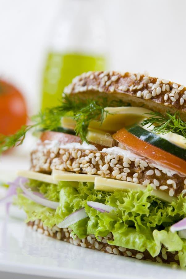 三明治素食主义者 图库摄影