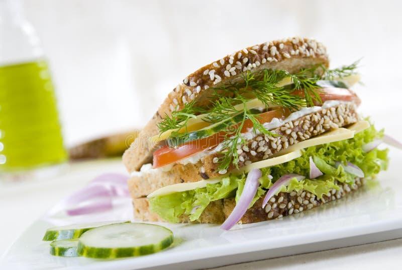 三明治素食主义者 免版税库存图片