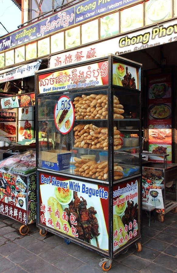 三明治街道自动贩卖机  库存照片