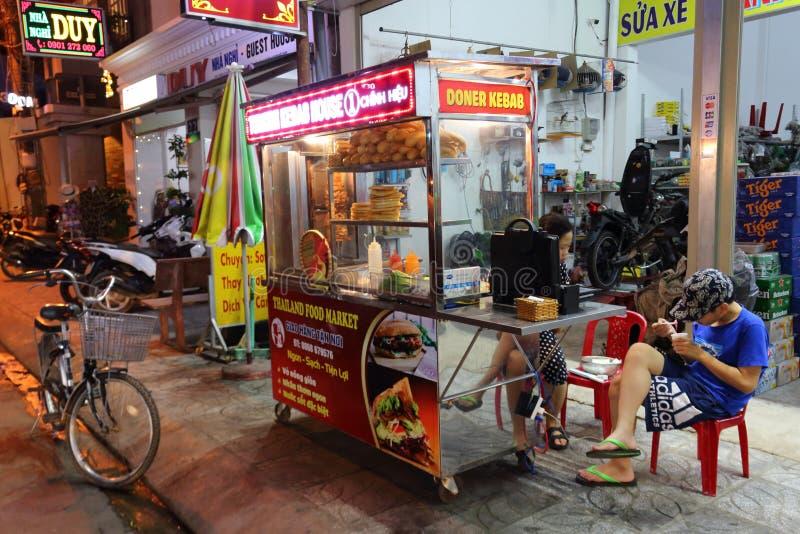 三明治街道自动贩卖机  库存图片