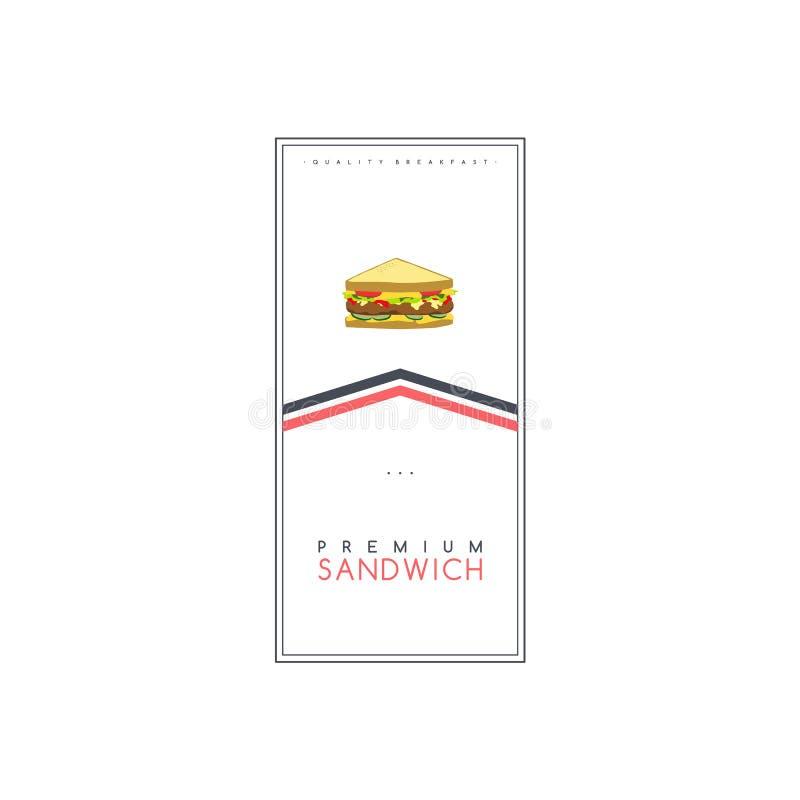 三明治食物和饮料题材飞行物小册子海报模板传染媒介 向量例证