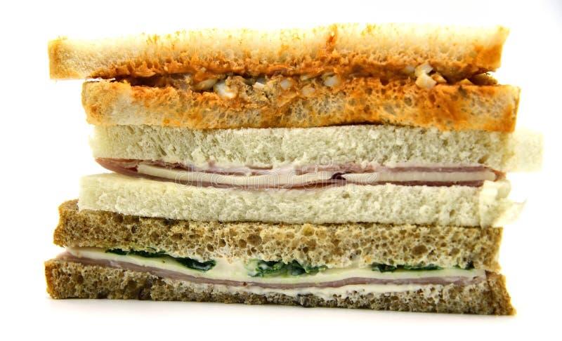 三明治 火腿和乳酪panini三明治 免版税库存照片