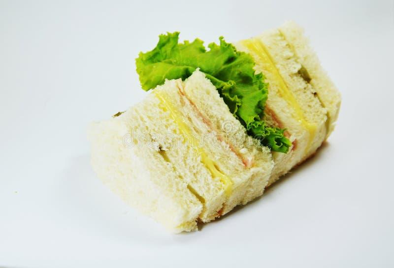 三明治乳酪和猪肉波隆纳 库存图片