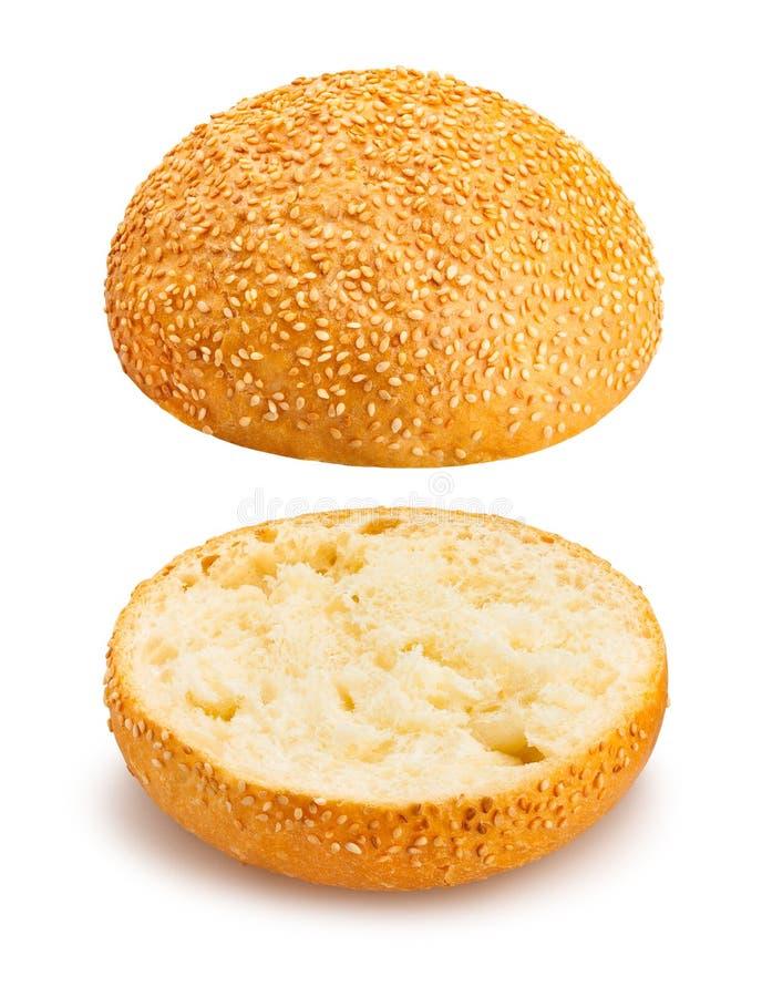 三明治小圆面包 库存图片