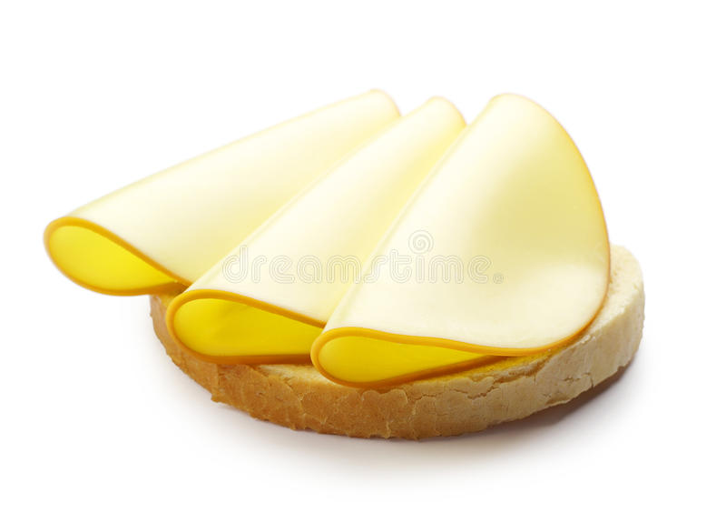 三明治用乳酪 库存图片