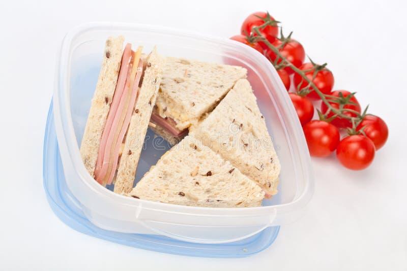 三明治用火腿和乳酪 库存图片