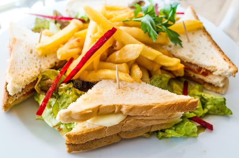 三明治用烟肉 库存照片