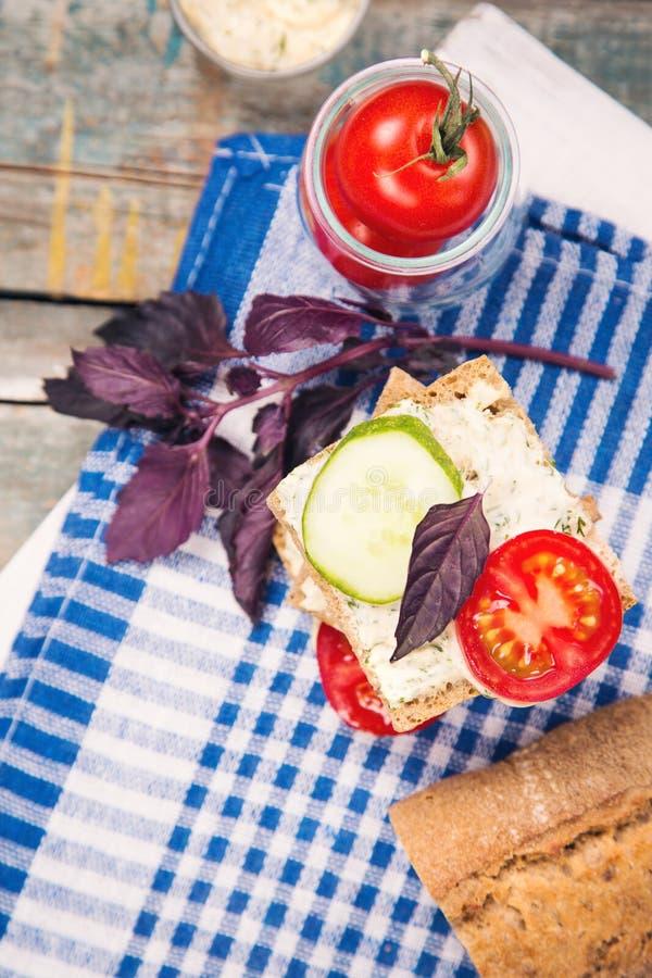 三明治用蕃茄 库存照片