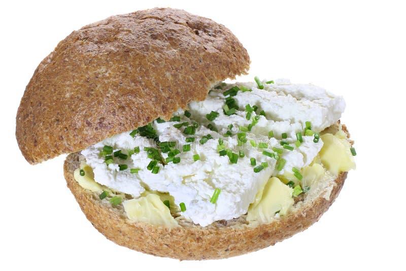 三明治用酸奶干酪 免版税库存照片