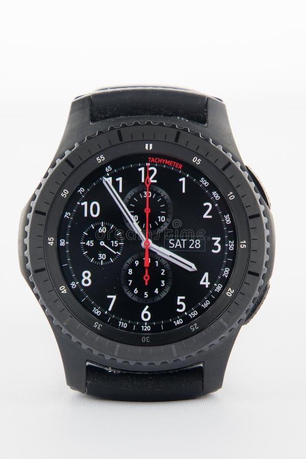 三星齿轮S3巧妙的手表 免版税库存照片