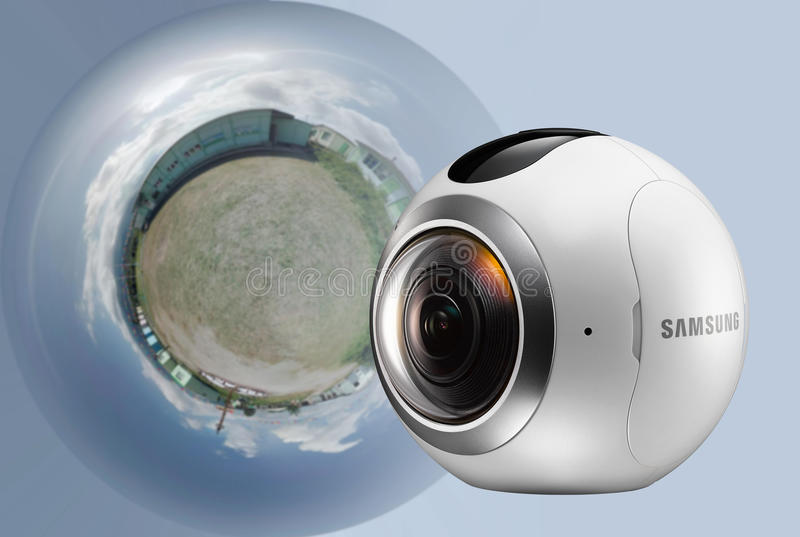 三星360度照相机 免版税库存照片