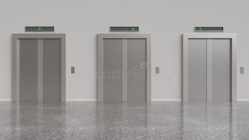 三电梯 向量例证