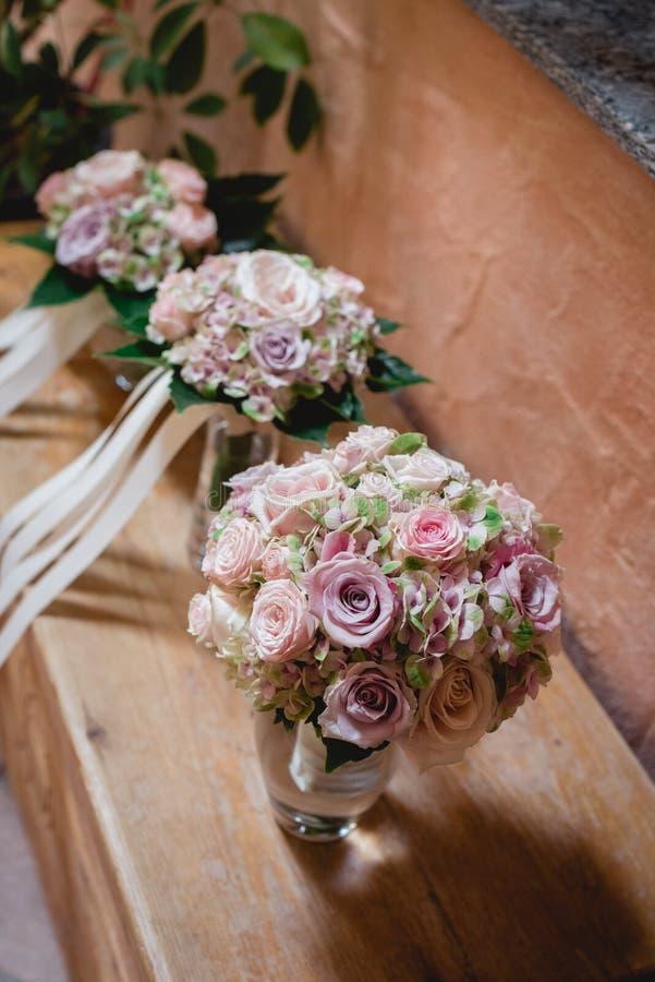 三束新娘花 免版税库存图片