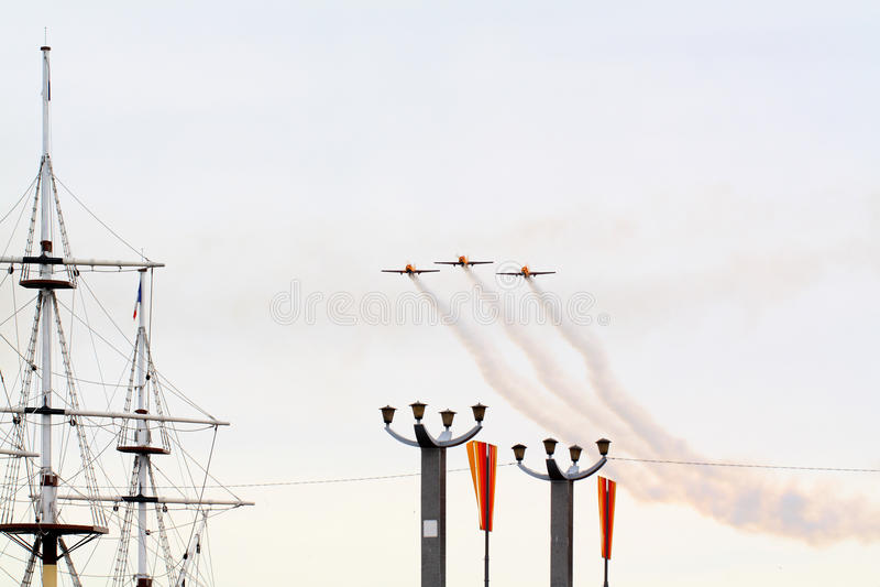 三架小的飞机 图库摄影