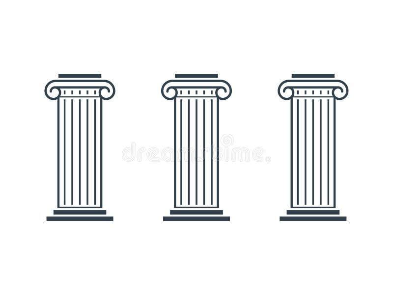 三根柱子图 向量例证