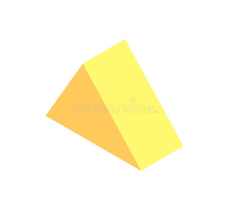 三棱柱黄色颜色传染媒介例证 皇族释放例证